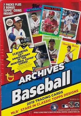 2019 Topps Archives Baseball sealed unopened Blaster box 7 packs of 8 MLB cards