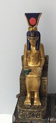Dollhouse Miniatures Egyptian Statue Of Hathor Seated