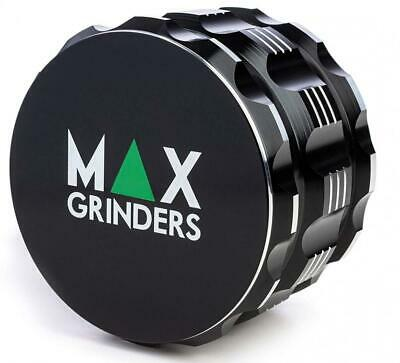 Herb Grinder - Max Premium Quality with Strong Grip - Black