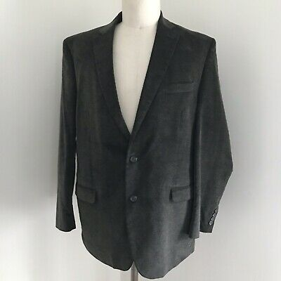 Chaps Ralph Lauren Men's Jacket Corduroy Brown Green 2bttn Vent 46L