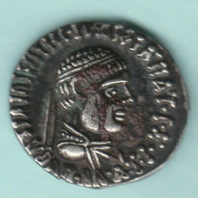 Ancient India Indo Greek King Menander Ex Rare Silver Coin