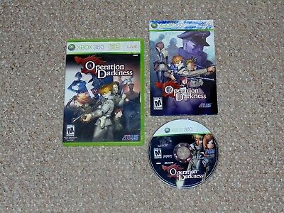 Operation Darkness Microsoft Xbox 360 Complete Atlus