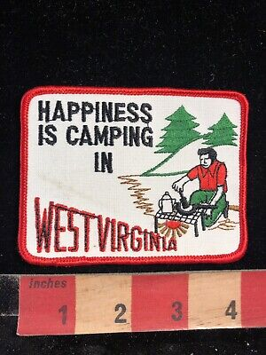 Happiness Is Camping In West Virginia Happy Camper Patch 98N6