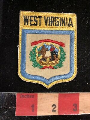Vintage West Virginia Flag Themed Shield Patch 98N6