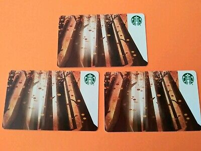 Starbucks Gift Cards 3 FALLING LEAVES. No Swipes No Value. 2019