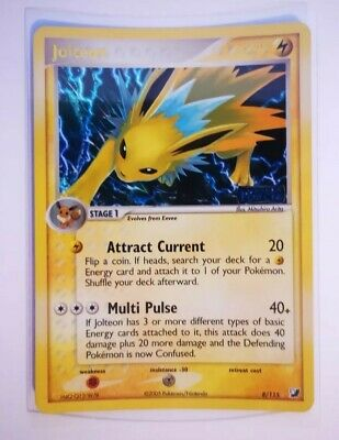 Pokemon Jolteon 8/115 EX Unseen Forces Holo Card NM/M Sleeved.