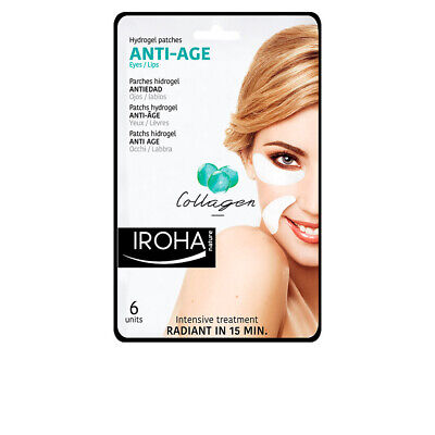 Cosmética Iroha mujer EYES & LIPS hydrogel patches collagen anti-age 6 pcs