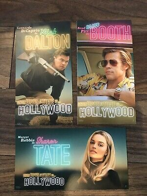 Once Upon A Time In Hollywood CARDS-ODEON-Full Set X3-Quentin Tarantino 2019