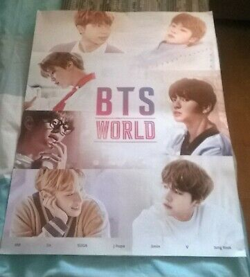 BTS WORLD OST Game Soundtrack Official Poster (Unfolded in Tube)