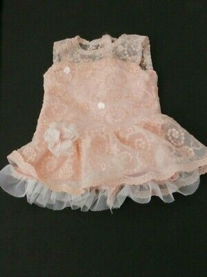 "American Girl Shimmer & Lace Party Dress for Dolls Peach 18"" Doll Retired"