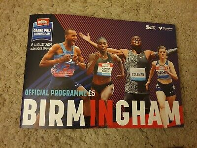 2019 muller Grand Prix Birmingham IAAF Diamond League Programme: Athletics