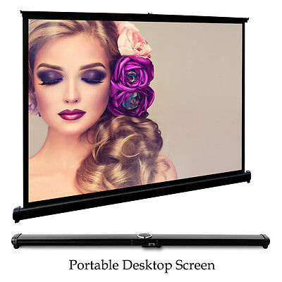 "50"" HD Projector Screen Foldable Home Theater Meeting Outdoor Camping Movies"