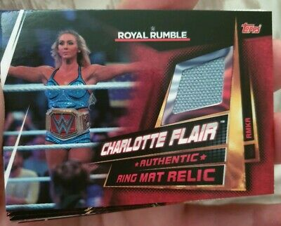 Topps WWE Slam Attax Universe Charlotte Flair RR Ring Mat Relic 2019 Memorabilia