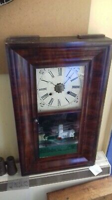 Antique. American.  Three train   OG  shelf clock  By Jerome.