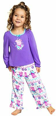 Peppa Pig Girls' Toddler Velour Fleece Sleep Set