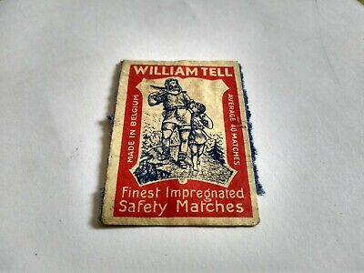William Tell Matchbox label ...late 1950's.... early 1960's