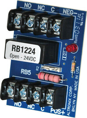 Altronix RBSN Relay Module 12 or 24 VDC DPDT Contacts @ 1A 120VAC or 2A 28VDC