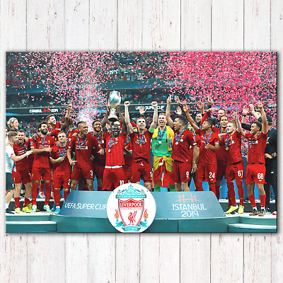 LIVERPOOL FC UEFA Super Cup Winners 2019 | Canvas Print Wall Art Photo | 5 Sizes