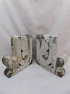 1800's Antique Wood CORBELS Scroll Design VICTORIAN EASTLAKE Style ORNATE