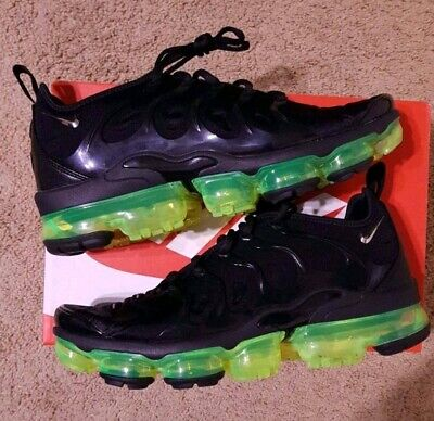 Nike Air Vapormax Plus Running Shoes Black Volt Green 924453-015 Men's
