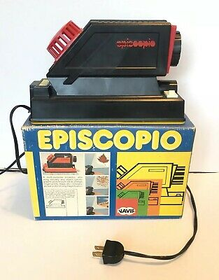 Vintage Episcopio Art Tracing Projector Original Box Document Tested Works Italy