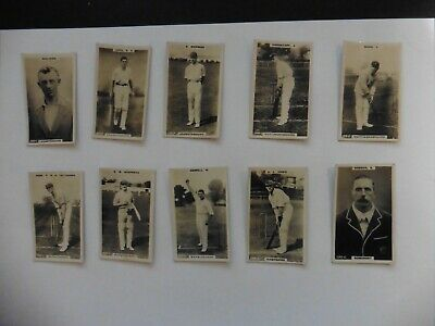 10 x Godfrey Phillips Cigarette Cricketers Cards Mixed Joblot Brown Notts Hants