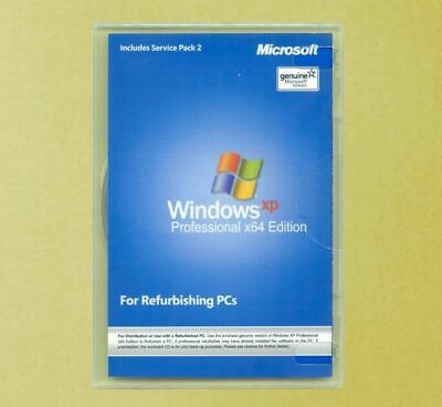 New Windows XP Professional x64 Edition Full Version Disk COA Product Key 64 bit