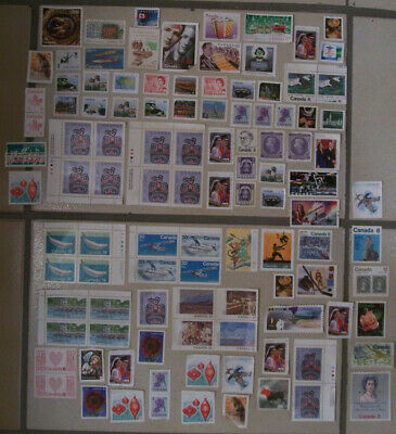 Need Postage? Huge Lot of 107 Canada Canadian Uncancelled Postage Stamps