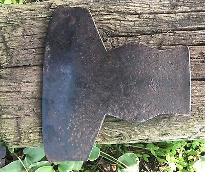 ANTIQUE SIMMONS & Co. COHOES CAST STEEL HEWING BROAD AXE / HATCHET AX