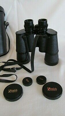 Vintage Zenith Tempest 7 X 50MM FIELD 7.1 Binoculars With Case