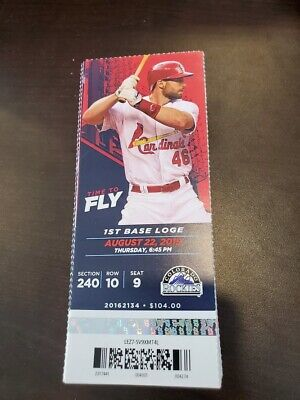 St. Louis Cardinals Colorado Rockies MINT Season Ticket 8/22/19 2019 MLB Stub