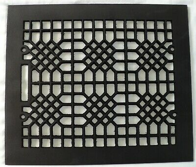 "Vintage Antique Ornate Cast Iron Grate Register Air Heat Vent Steampunk 14""X12"""