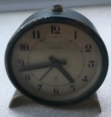 Vintage Jaeger Lecoultre 2 Day Alarm Clock 1940s