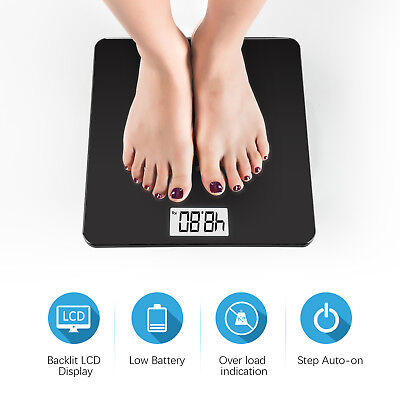 Digital Smart Body Fat Weight Scale LCD Health Tracker BMI Muscle 400LB Bathroom