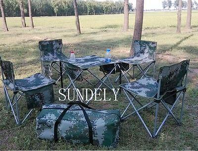 Outdoor Portable Folding Garden BBQ Chair Stools Set Camping Picnic Table Party