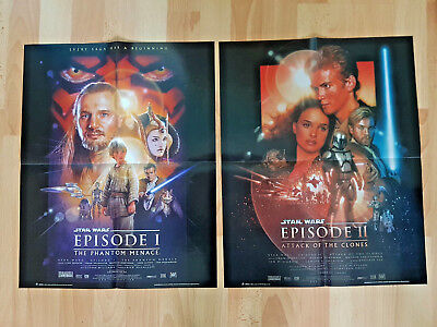Star Wars The Phantom Menace & Attack of the Clones Posters