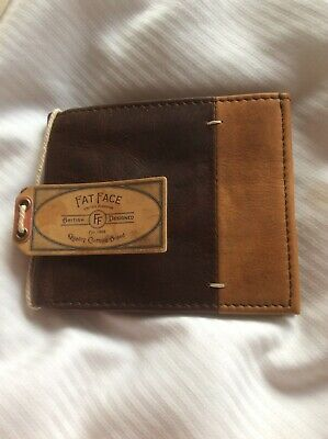 Fat Face Simon Stitch Leather Wallet BNWT