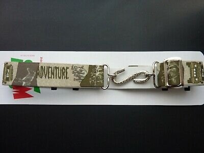 SAFARI MOTIFS SNAKE BELTS FOR KIDS/BOYS/CHILDREN fit approx.1-10 yr. UK MADE