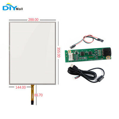 17inch 4 Wire Resistive Touch Screen Panel +USB Touchscreen Controller Driver