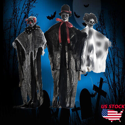 Haunted House Halloween Hanging Ghost Skeleton Party Decoration Skull  Outdoor P