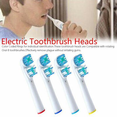 4pcs Electric Toothbrush Head Dual Clean Compatible Replacement Tooth Brush Head