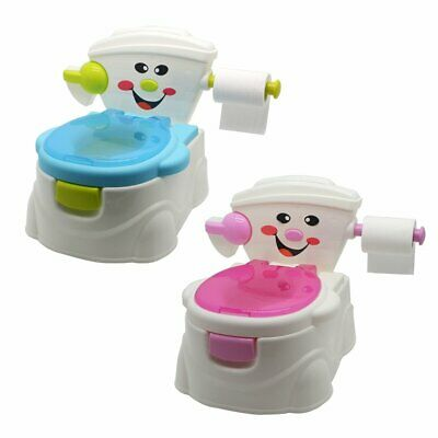 3 in 1 Children Potty Training Seat Baby Kid Toddler Handle Toilet Trainer Chair