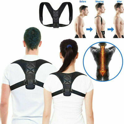 Adjustable Posture Corrector Clavicle Therapy Back Support Brace Belt Women Men