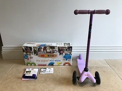 Mini Micro Scooter Sporty Purple with Scoot 'n Pull Strap