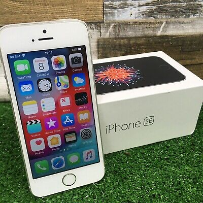 New Apple iPhone SE 16GB 32GB 64GB 128GB Silver Factory Unlocked - 12M Warranty