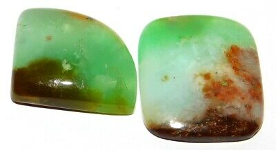 Chrysophrase Genuine Natural Loose Gemstone Cabochon Lot Green 89Cts. 28661