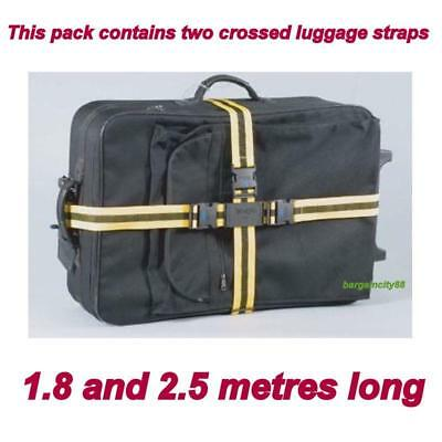 X2Travel Luggage Suitcase Packing Safe Strap Tie Down Lock Bag Buckle Belt Nylon