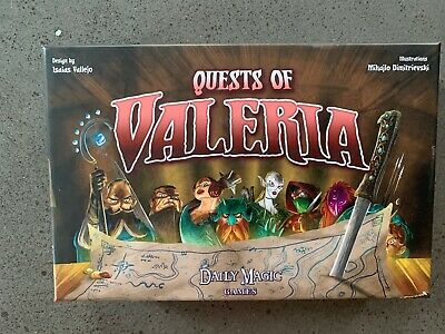 Quests of Valeria Kickstarter Edition Daily Magic Games - Barely Used