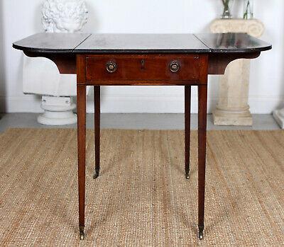 Antique Georgian Pembroke Table Drop Leaf Writing Table Mahogany George IV