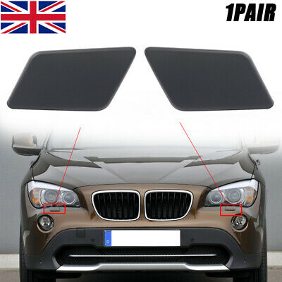 LH Headlight Washer Covers Caps For BMW X1 Series E84 2010-2012